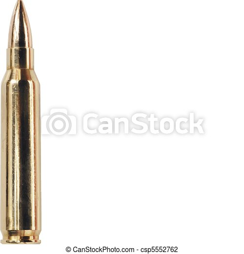 Vector Illustration of Single bullet csp5552762 - Search Clipart ...