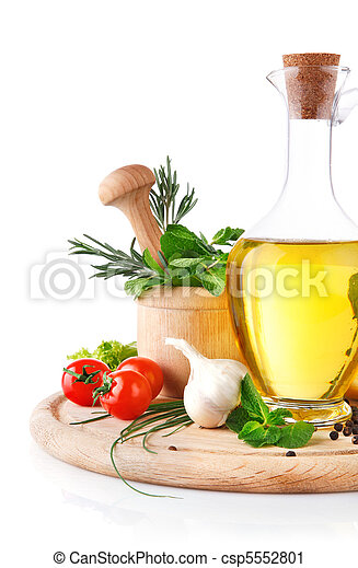set of ingredients and spice for food cooking - csp5552801