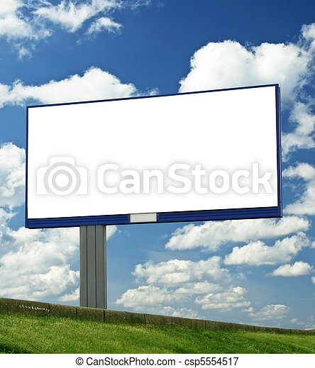 blank billboard, just add your text - csp5554517
