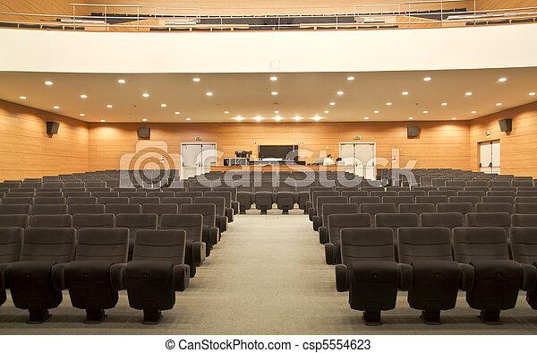 empty seats of a auditorium - csp5554623