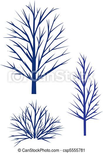 Trees Silhouette. - csp5555781