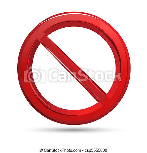 Prohibited Sign - csp5555800