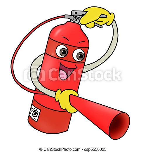 fuego, Extintor, icono - csp5556025