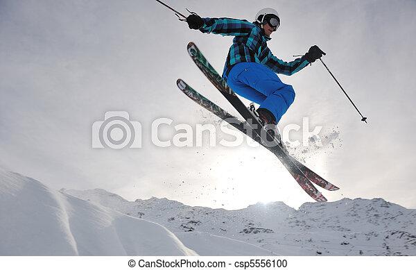 extreme freestyle ski jump - csp5556100