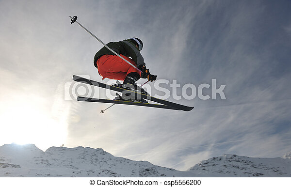 extreme freestyle ski jump - csp5556200