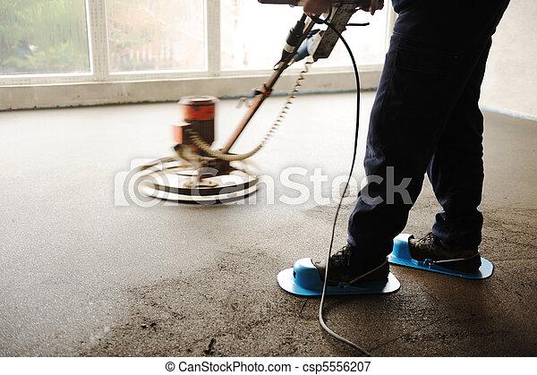 Bilder von equating nivellieren arbeiter boden zement for Boden nivellieren