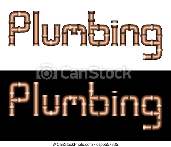 Stock Illustrations of PLUMBING Copper Steel Pipes - This ...