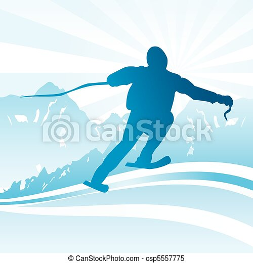 Ski and sport Background  - csp5557775