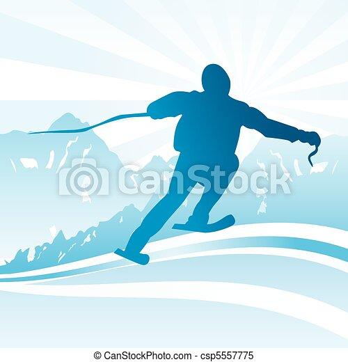 Ski and sport Background  - csp5557775