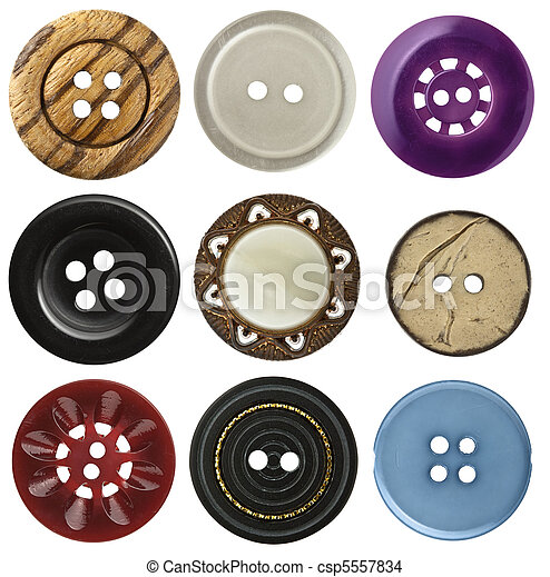 Sewing buttons  - csp5557834
