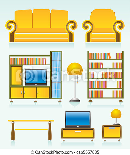 Clipart Vector Of Living Room Objects