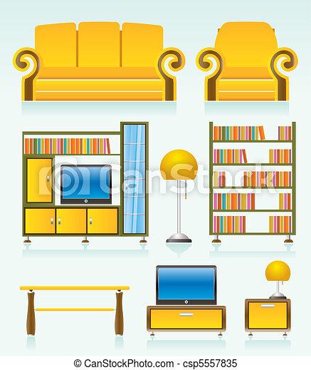 Wohnzimmer Clipart Und Stock Illustrationen 64062