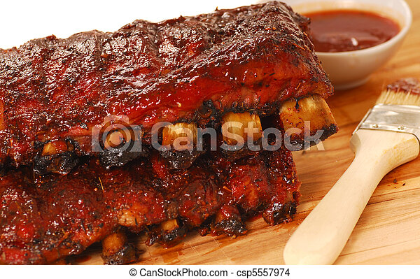 Slabs of BBQ Spare ribs - csp5557974