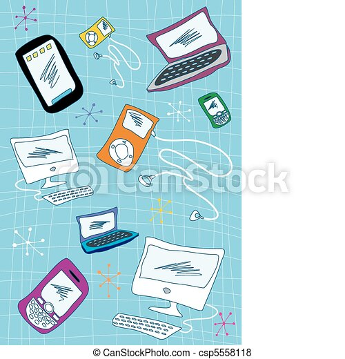 Tech devices icons set illustration - csp5558118