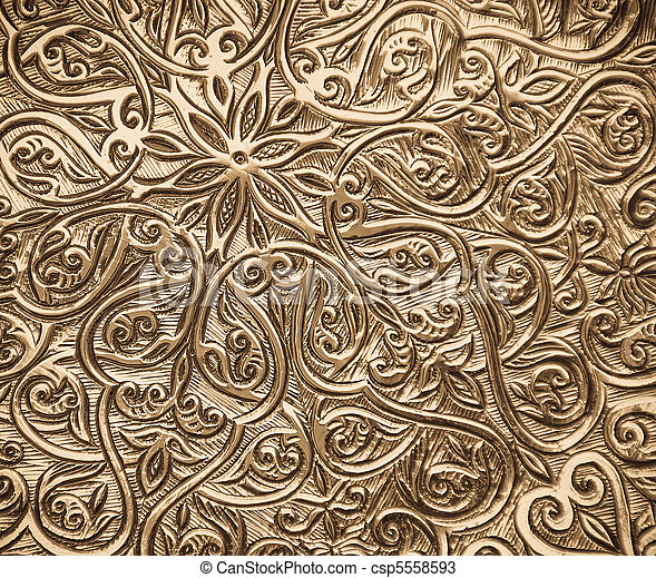 background with oriental ornaments - csp5558593