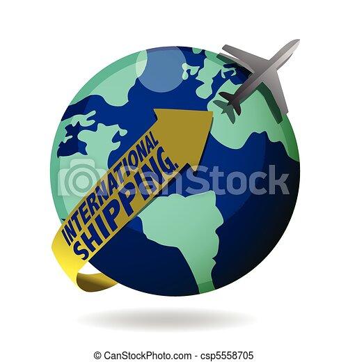 international shipping - csp5558705