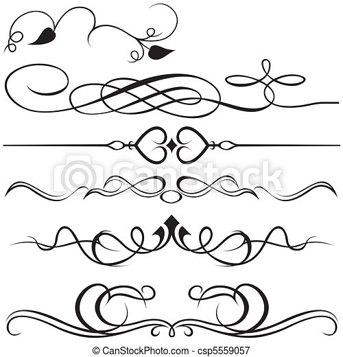 Calligraphic design elements - csp5559057