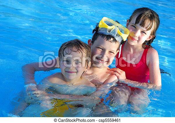 Happy Swimmers - csp5559461