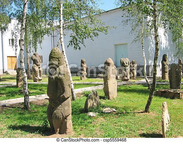 Stone idols of ancient Scythians - csp5559468
