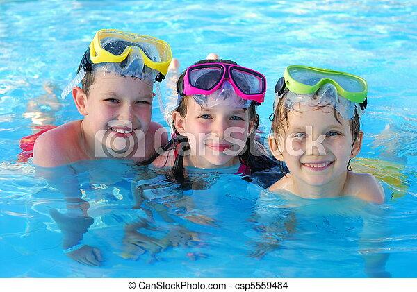 Happy Swimmers - csp5559484