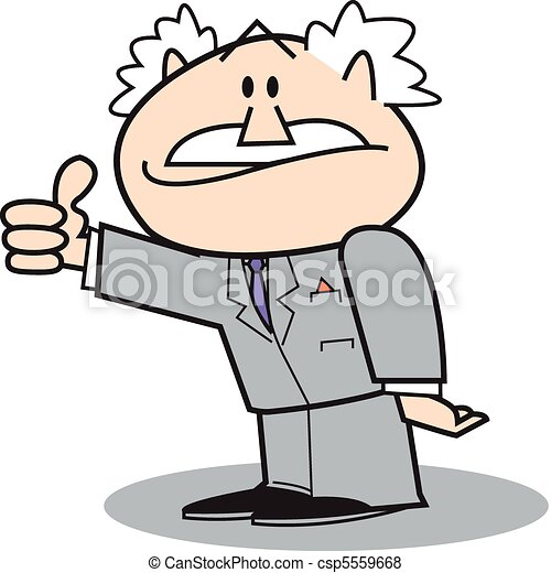 Business man in suit with thumb up - csp5559668