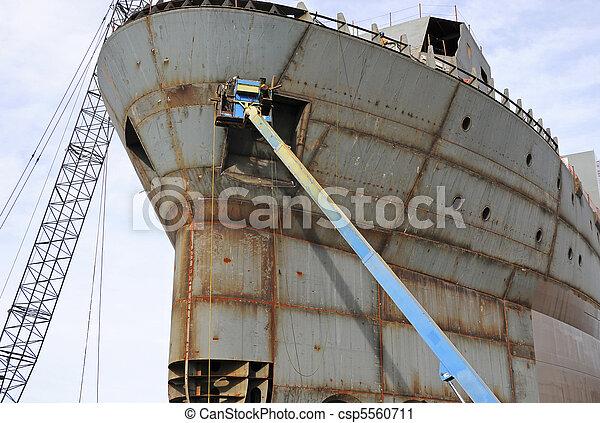 photographies de chantier naval soudeur welder travailler recherche csp5560711. Black Bedroom Furniture Sets. Home Design Ideas