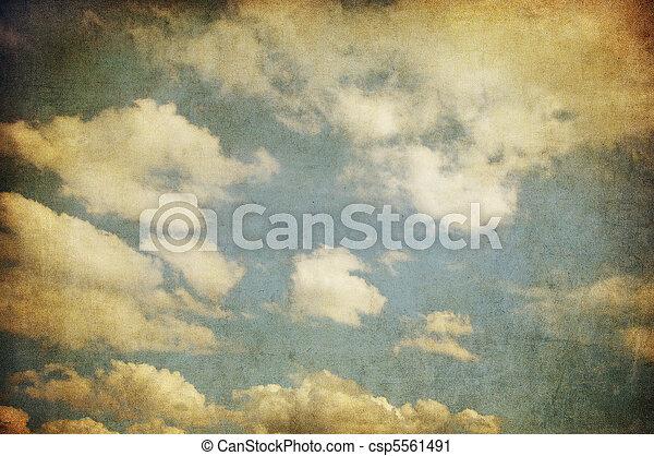 retro image of cloudy sky - csp5561491
