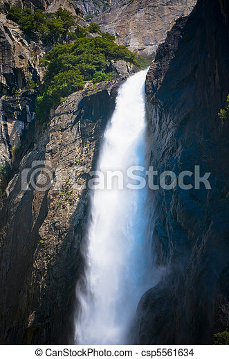 Yosemite waterfall, California, USA - csp5561634