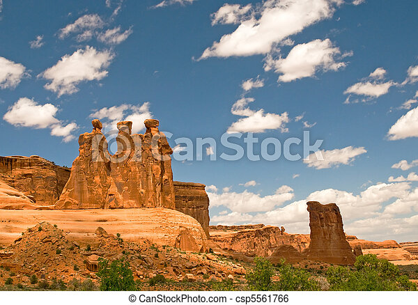 Arches National Park, Utah, USA - csp5561766