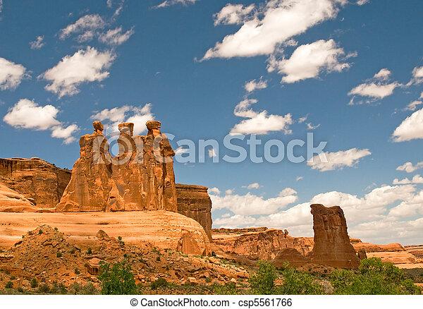 Arches National Park, Utah, USA - csp5561766