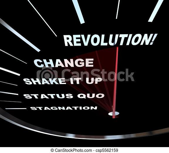 Change - Speedometer Races to Revolution - csp5562159