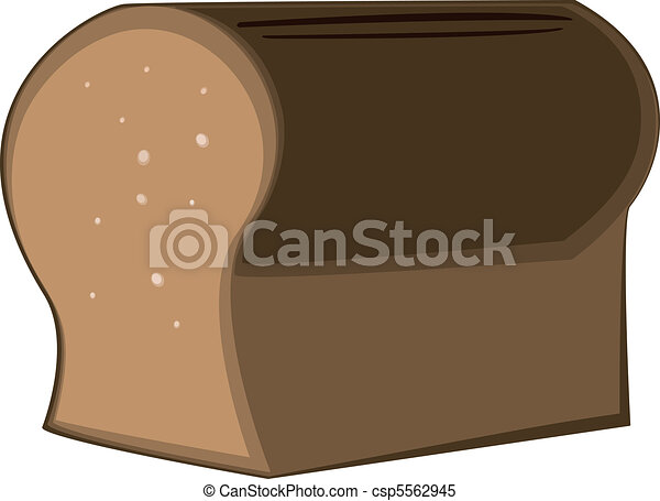 a loaf of brown delicious bread - csp5562945