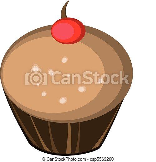 chocolate flavor muffin  - csp5563260