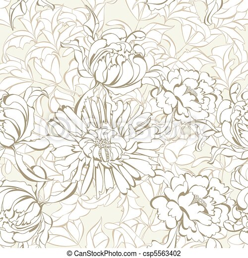 Romantic seamless wallpaper - csp5563402