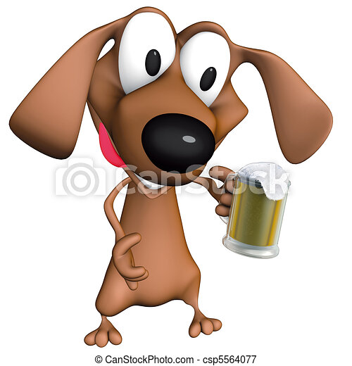 Dog beer mug - csp5564077