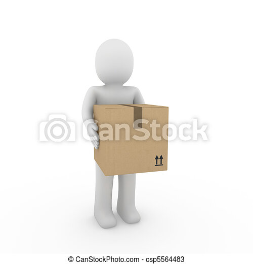 3d human package shipping - csp5564483