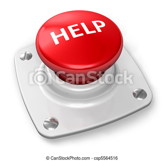 Red help button - csp5564516