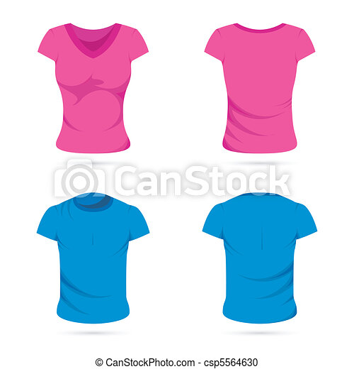 Male and Female T-shirts - csp5564630