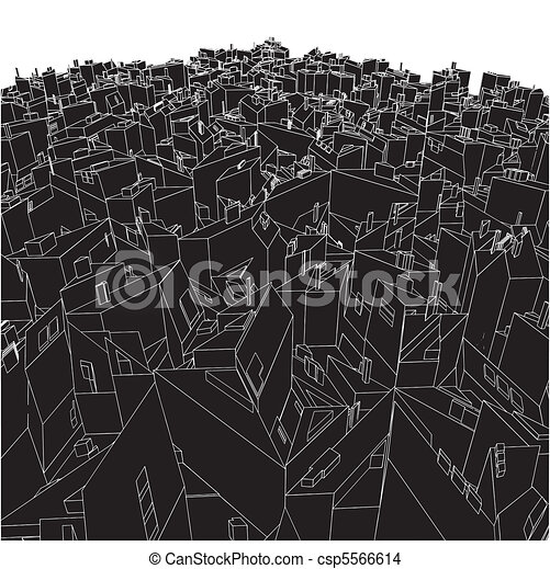 Abstract Urban City Boxes From Cube - csp5566614