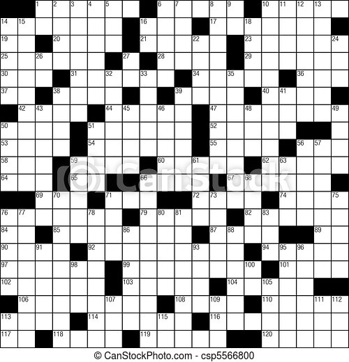Vector Clipart of Crossword puzzle - Blank crossword puzzle template ...