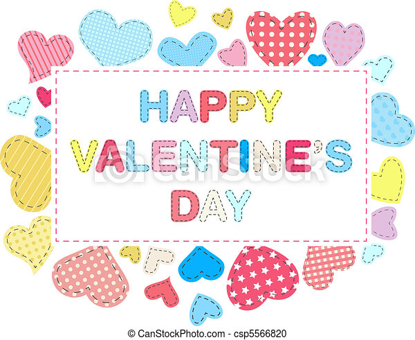 Valentines day card - csp5566820
