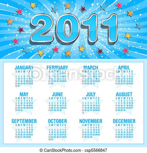 Starry calendar - csp5566847