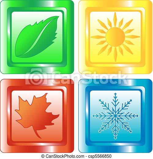Four seasons web button - csp5566850