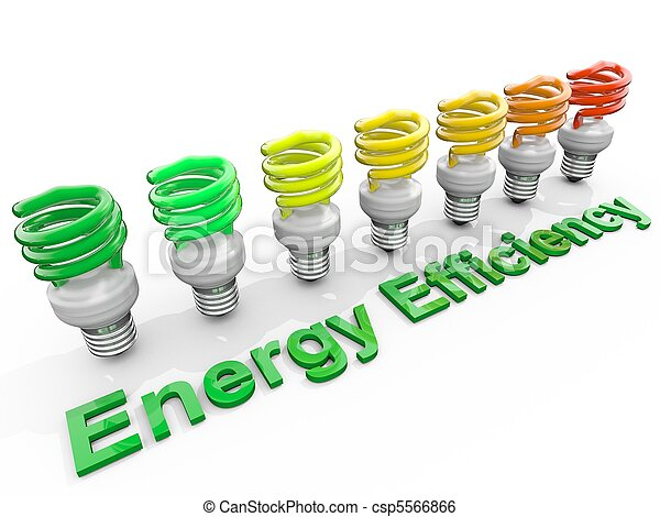 Energy Efficiency Concept symolizing the Energy performance Chart - csp5566866