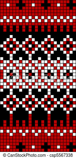 Seamless Knit Pattern Block 1 - csp5567338