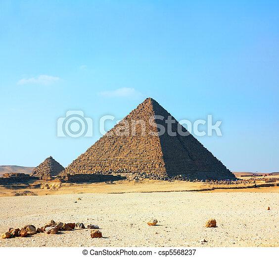 egypt pyramids in Giza - csp5568237