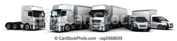 Fleet of Delivery Vehicles - csp5568639