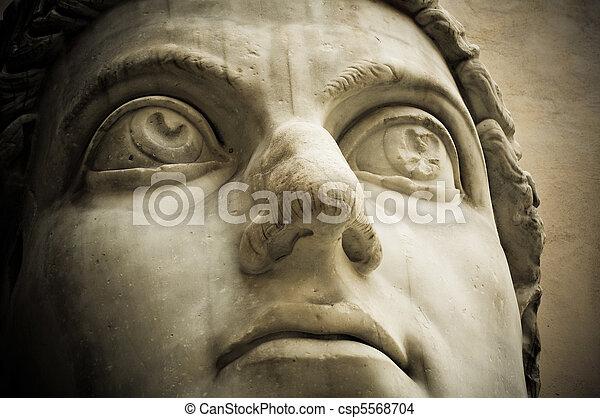 Head of emperor Constantine, Capitol, Rome - csp5568704