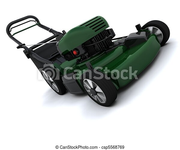 Man Mowing the Lawn - csp5568769