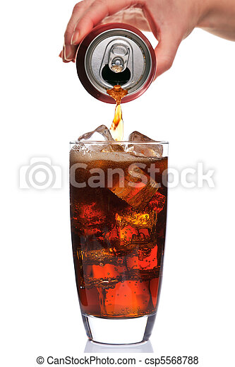 Pouring a glass of cola - csp5568788